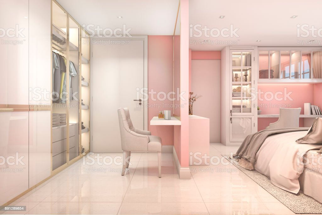 Photo libre de droit de 3d Rendu Confortable Rose Pastel ...
