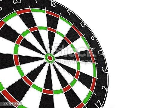 826378430istockphoto 3d rendering Dart in dartboard bullseye 1007249990