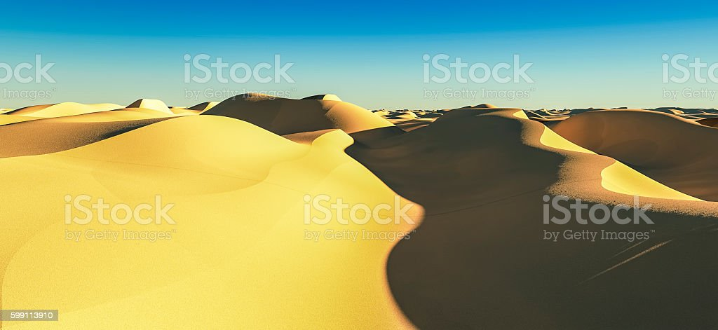 3d rendering dessert landscape03 stock photo