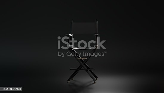 3d rendering Directors chair