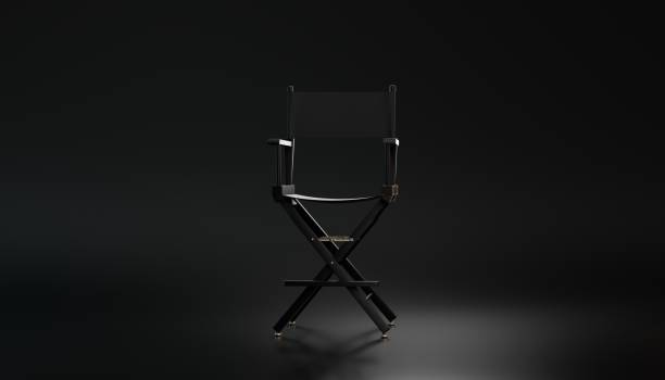 3d rendering Directors chair stock photo
