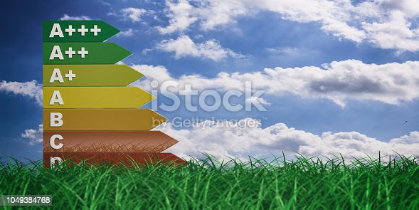 istock 3d rendering energy efficiency rating 1049384768