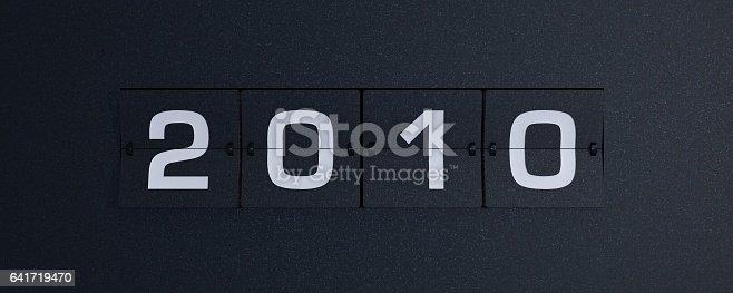 3d rendering flip board year 2010