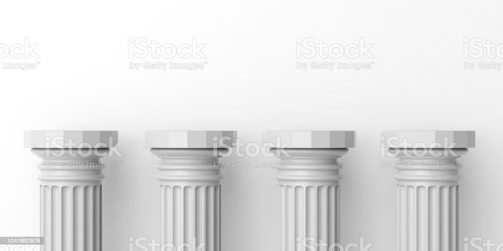 3D Rendering vier weiße Marmorsäulen – Foto