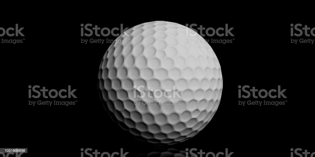 3d Rendering Golf Ball Stock Photo & More Pictures of Activity | iStock