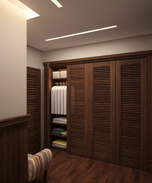 ... 3d rendering interior design of the wardrobe stock photo ...