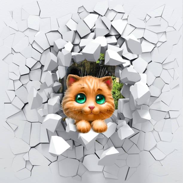 3d rendering kitten in destroyed wall picture id1043295056?b=1&k=6&m=1043295056&s=612x612&w=0&h=epfel1nd89zpvkm0ljtbwex5yrckvqmjfvsh 8w5uya=