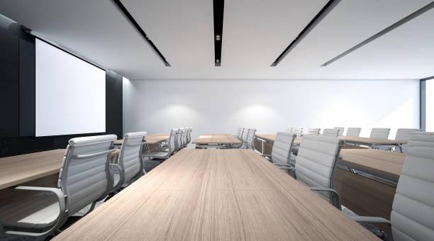 3 d レンダリング、イベント ・講演会建物内セミナー ルームのサイズが大きい - 芸能・娯楽施設 ストックフォトと画像
