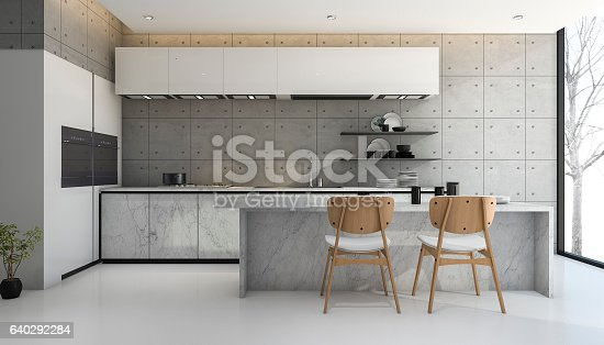 istock 3d rendering loft and modern concrete kitchen 640292284