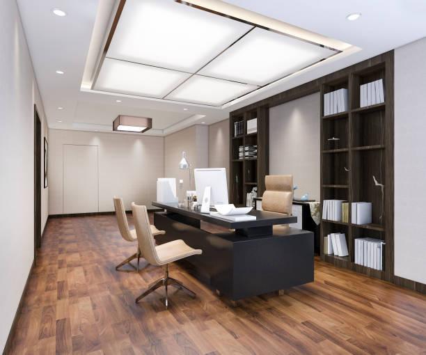 3d Rendering Luxus-Business-Meeting und Arbeitsraum in Executive Office – Foto