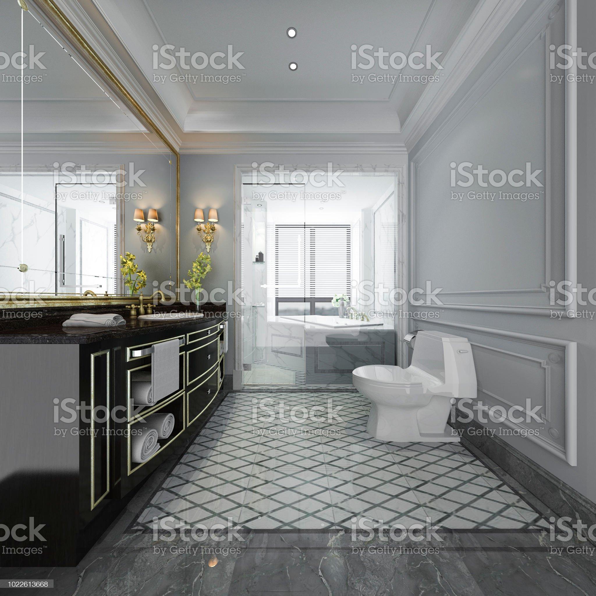 Imagen de Aseo y baño de diseño moderno de lujo de ...