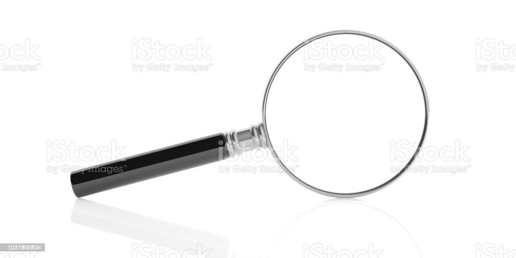 3D Rendering-Lupe auf weißem Hintergrund – Foto