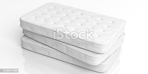 3d rendering mattresses isolated on white background