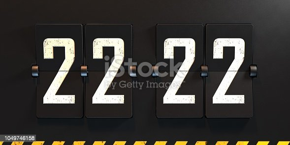 3d rendering flipboard numbers scoreboard