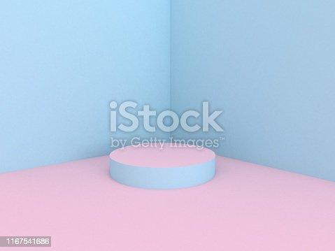 istock 3d rendering minimal gradient podium 1167541686