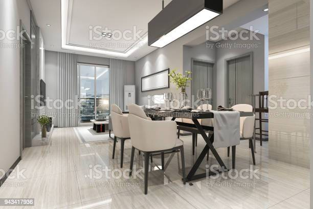 3d rendering modern dining room and living room with luxury decor picture id943417936?b=1&k=6&m=943417936&s=612x612&h=3ecbliuz bn2xuodw7rmx 9vogjrbgmtswti7pvvz1y=