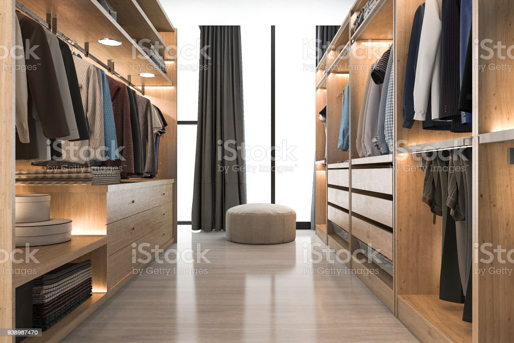 3d Rendering Modernen Skandinavischen Weißem Holz Gehen In