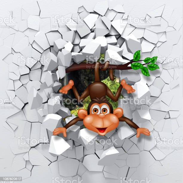 3d rendering monkey in destroyed wall picture id1082620512?b=1&k=6&m=1082620512&s=612x612&h=xcfhqsnruiyg0xjys dpctb72wx0hzj4sy s18y6 y4=