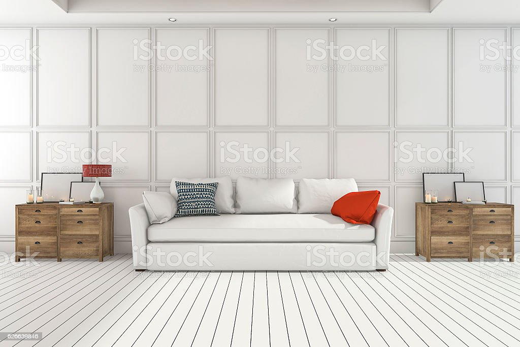 Fabulous 3D Rendering Nice Cupboard With White Sofa In Living Room Pdpeps Interior Chair Design Pdpepsorg