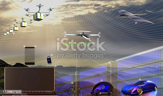 istock 3d rendering of 5G Network Connection Concept 1125807320