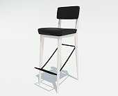 3d rendering of a bar chair