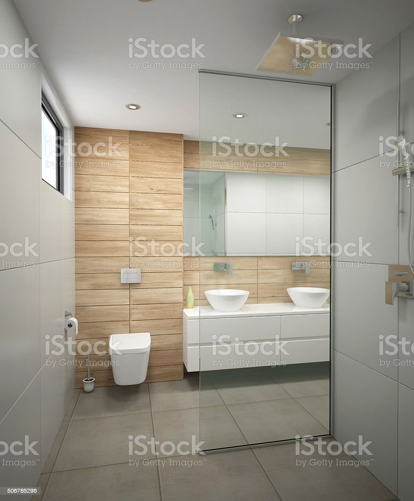3d Rendering Of A Bathroom Interior Design Stock Photo Download Image Now Istock