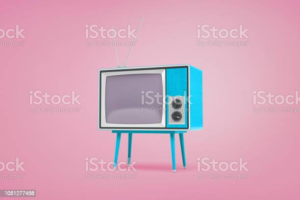 3d rendering of a blue retro tv set standing on legs and with on top picture id1051277458?b=1&k=6&m=1051277458&s=612x612&h=lqqw7jjfkqqi3h1fzbrdtpuljojoayazwdtrufatyxk=