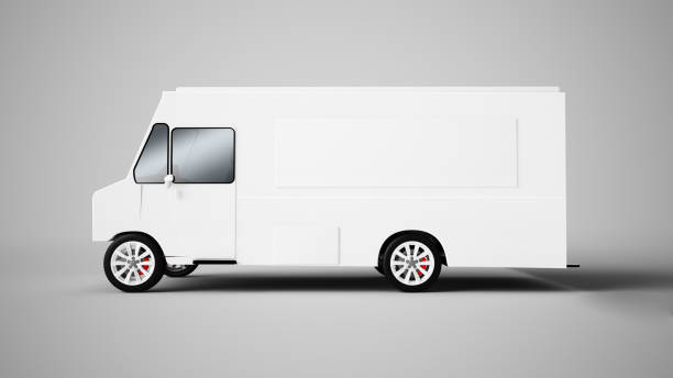 3d rendering of a food truck food truck 3d rendering food truck stock pictures, royalty-free photos & images