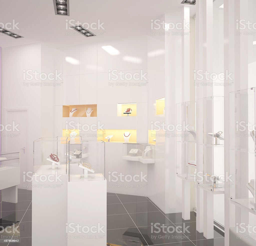 3d Rendering Of A Jewelry Store Interior Design Stock Photo Download Image Now Istock