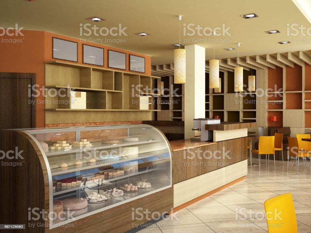 Render 3d De Un Moderno Bar Diseno De Interiores Foto De Stock Y Mas Banco De Imagenes De Arquitectura Istock