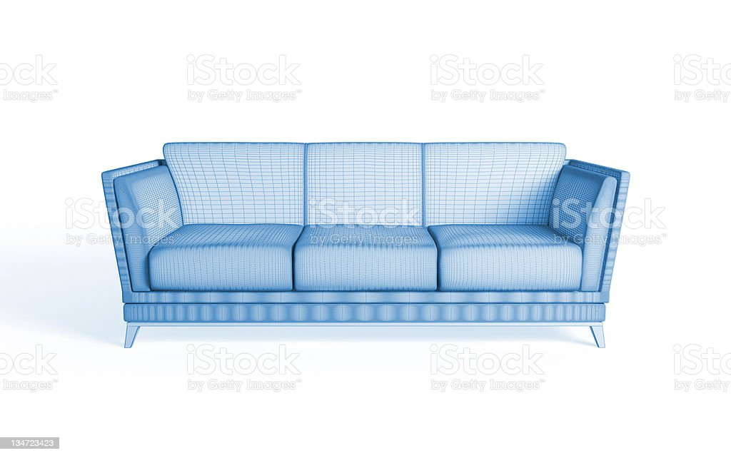 3d rendering of a modern sofa royalty-free stock photo