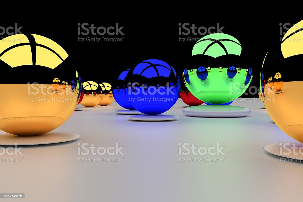 3d rendering of an assembly of glossy balls royaltyfri bildbanksbilder