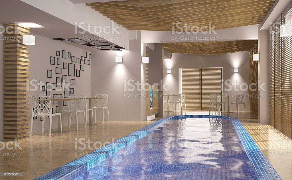 3d Rendering Of An Indoor Swimming Pool Interior Design Stock Photo Download Image Now Istock