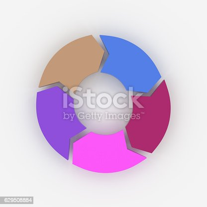 istock 3d rendering of arrow for process concept info graphic design 629508884
