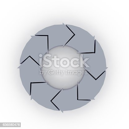 istock 3d rendering of arrow for process concept info graphic design 636580476