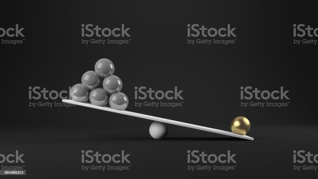 3d rendering of balance concept stock photo