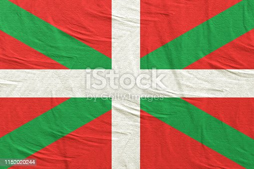 3d rendering of a Spanish Basque Country community flag silk