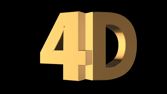 istock 3d rendering of beautiful 3d wording with black background color 856452222