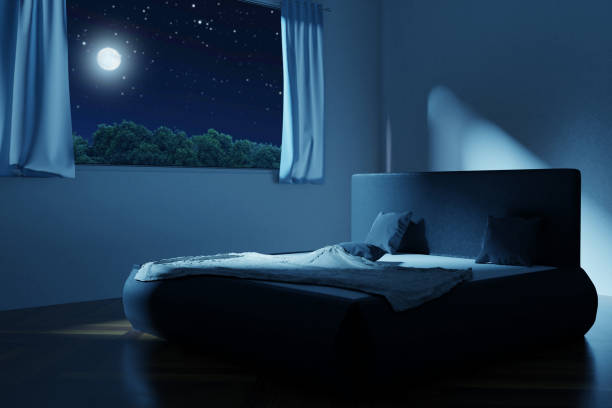 2 992 Bedroom Window At Night Stock Photos Pictures Royalty Free Images Istock