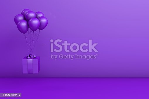 istock 3d rendering of Birthday, holiday or party celebration concept. 1195973217