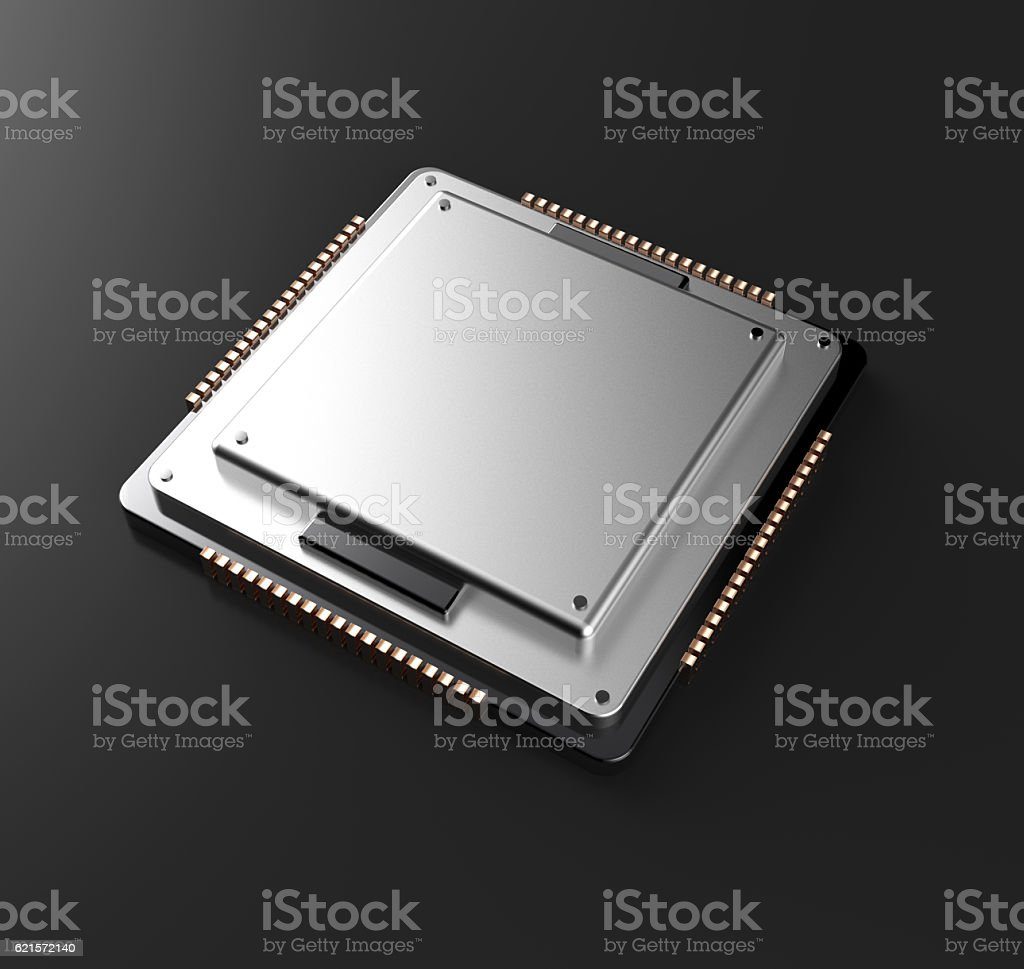 3d rendering of Central Computer Processors CPU with clipping pa photo libre de droits