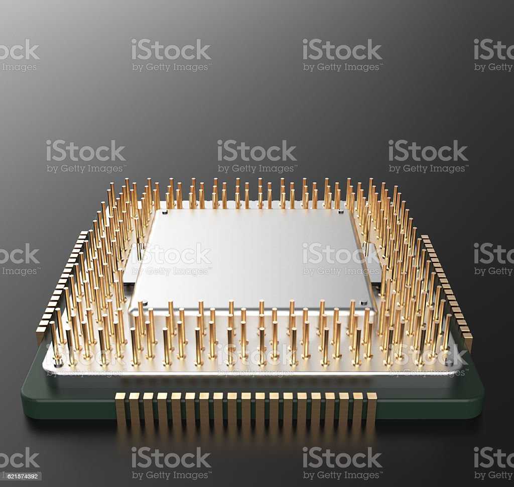 3d rendering of Central Computer Processors CPU with clipping pa stock photo