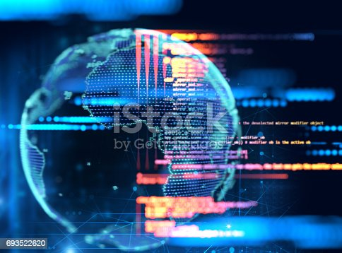 istock 3d rendering of earth futuristic technology 693522620