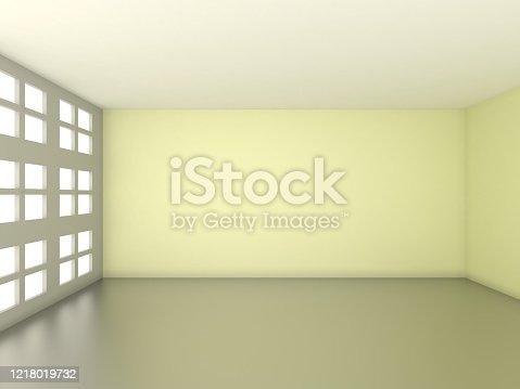 521806786 istock photo 3d rendering of Empty Room 1218019732