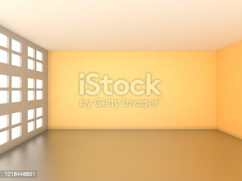 521806786 istock photo 3d rendering of Empty Room 1218448851