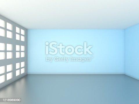 521806786 istock photo 3d rendering of Empty Room 1218989090