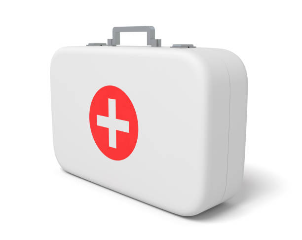 3d rendering of first aid medical box isolated on white background