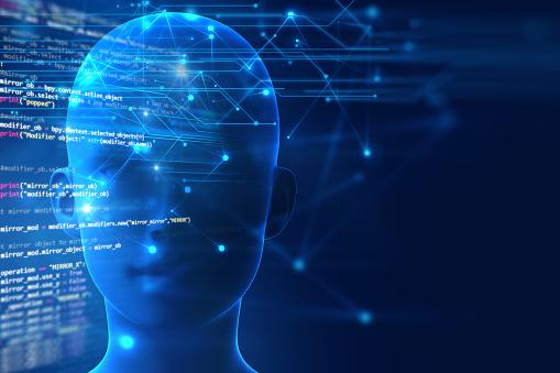 istock 3d rendering of human  brain on programming language background 613330668