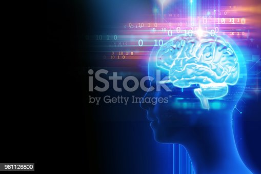 611992272 istock photo 3d rendering of human  brain on technology background 961126800