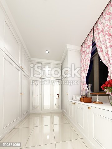 528056058istockphoto 3d rendering of interior walk-in closet 520371068